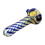 """Glass Pipe Genuine Pipe Co 4"""" Fumed Striped - Display/12"""